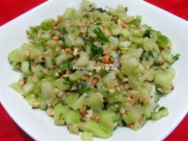 Khamang Kakdi (Maharashtrian Style Cucumber Salad)