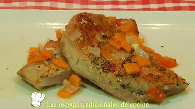 Receta de secreto Ibérico con salsa al horno