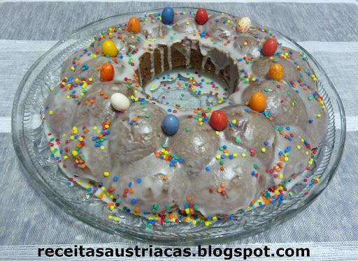 decoracao de bolo para pascoa glace