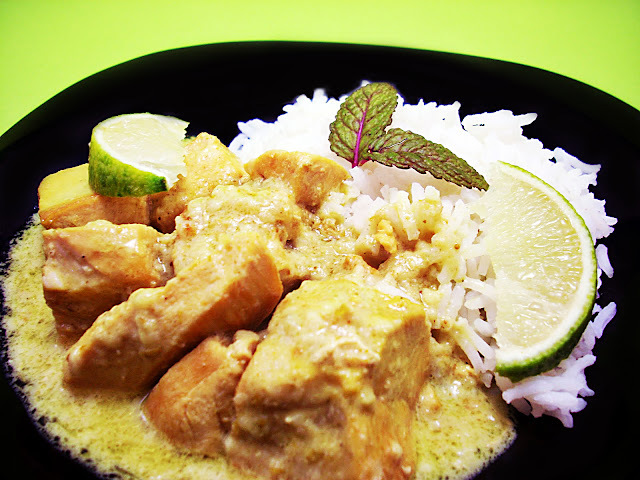 Curry de Pollo Cremoso y Cumpleblog