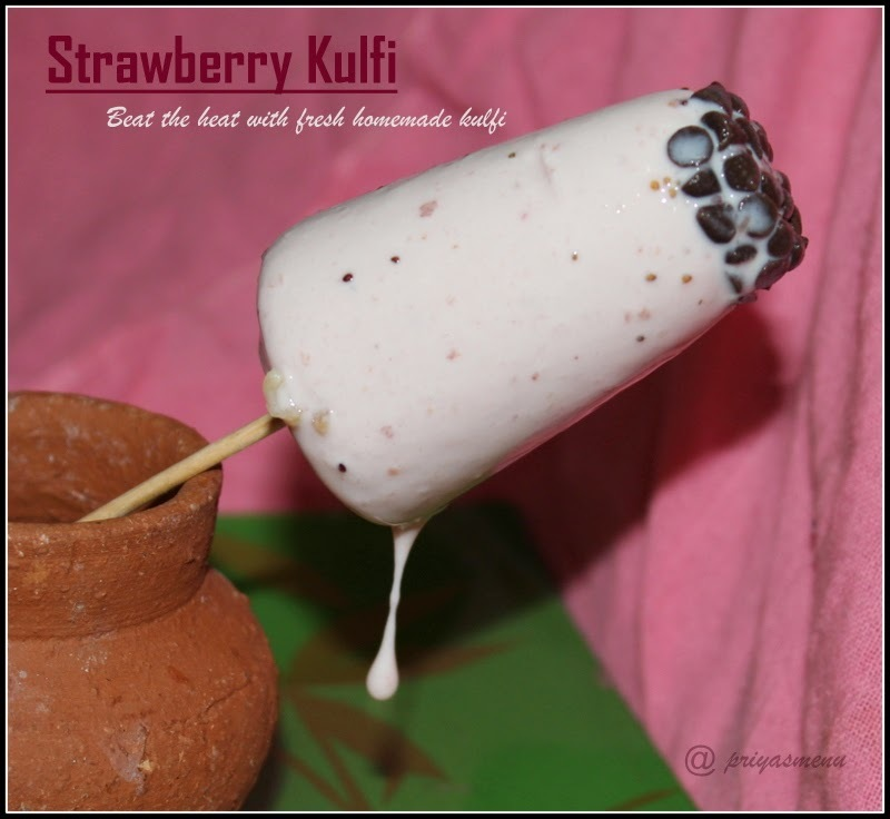 Strawberry Kulfi