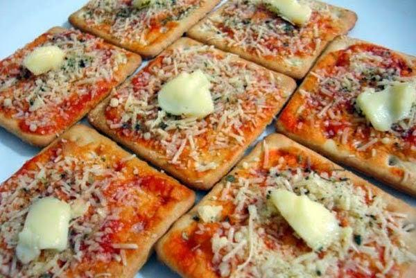 Mini Pizza de Pão de Forma