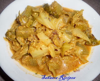 Bottle Gourd Cabbage Milk Curry / Sorakaya Cabbage Paala tho Koora