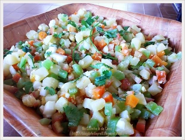 Salada de Legumes e Ovos.