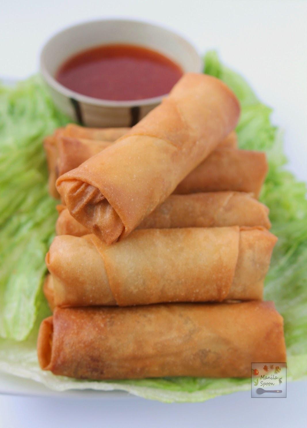 Lumpia (Filipino Vegetarian Spring Rolls)