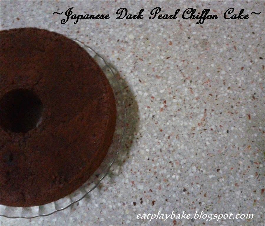 日式黑珍珠戚风蛋糕 Japanese Dark Pearl Chiffon Cake