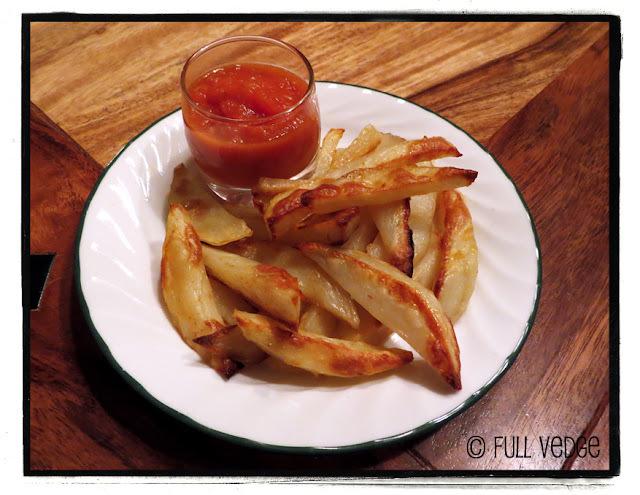 Frites au four et ketchup fait maison