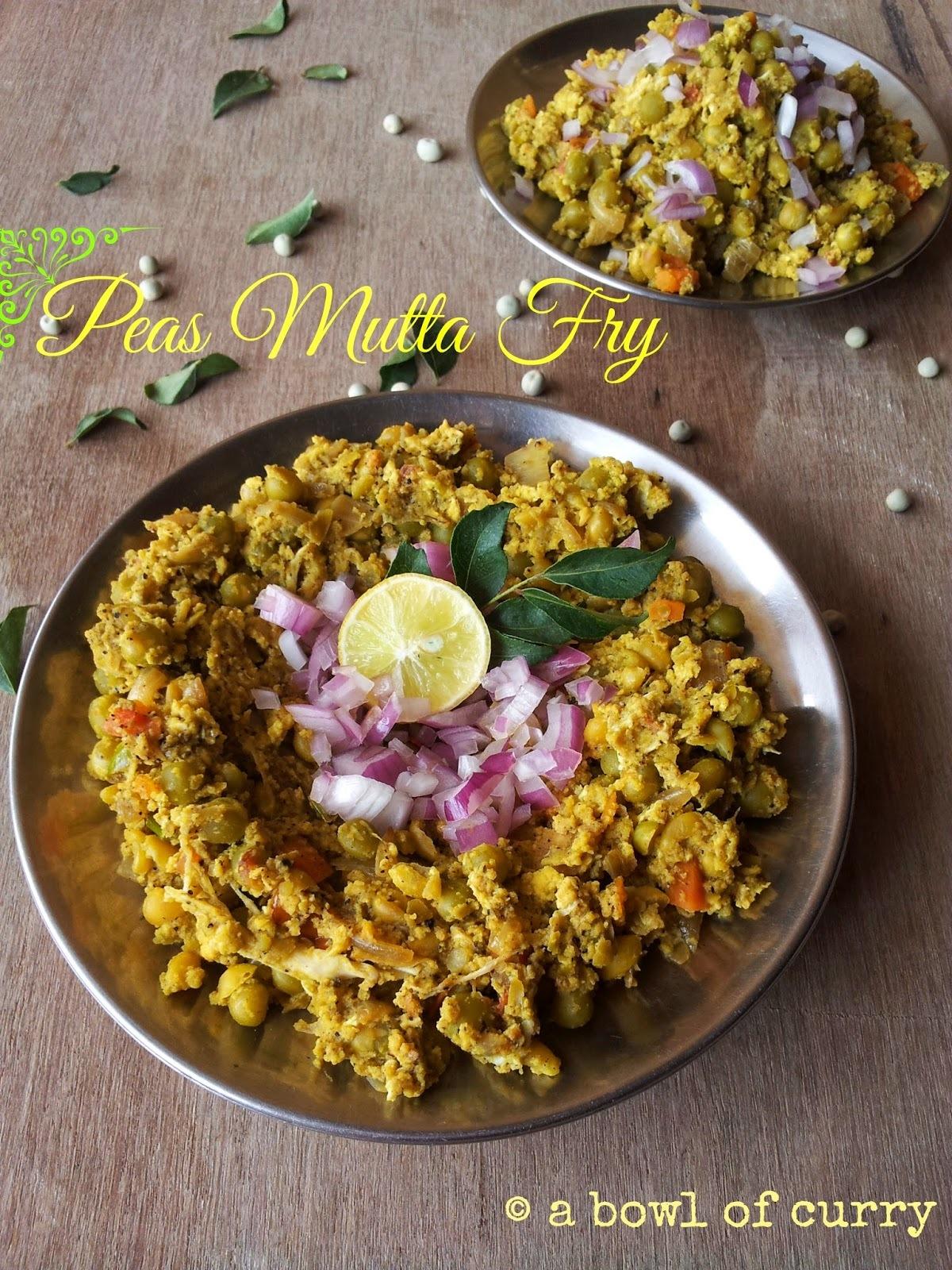 Peas Mutta Fry ~ A Kozhikode Street Food