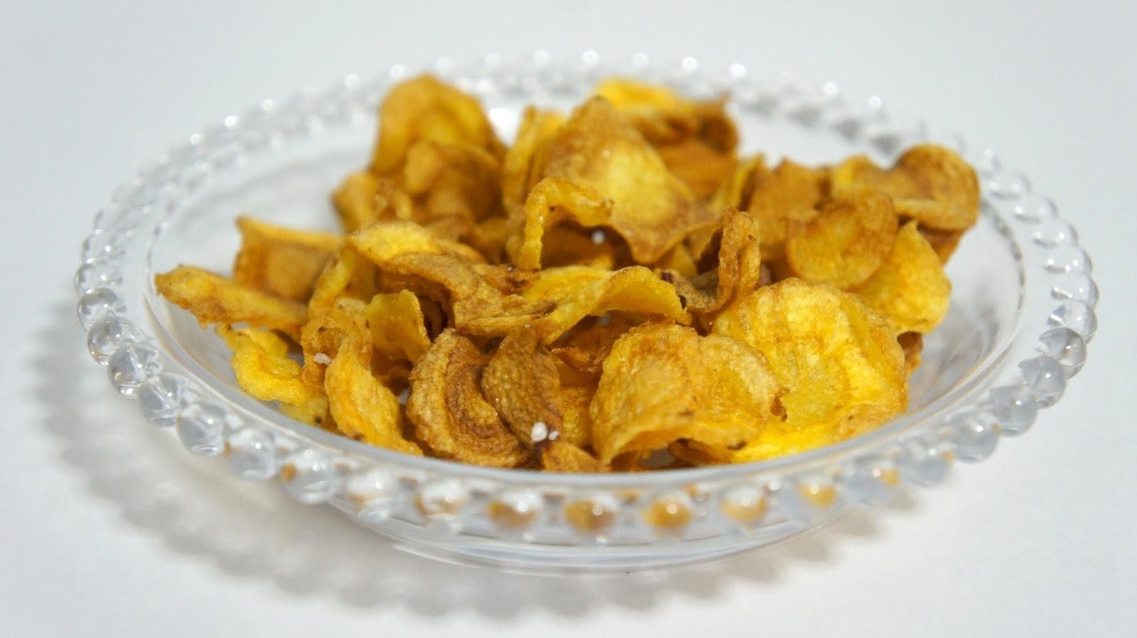 mandioquinha chips no forno
