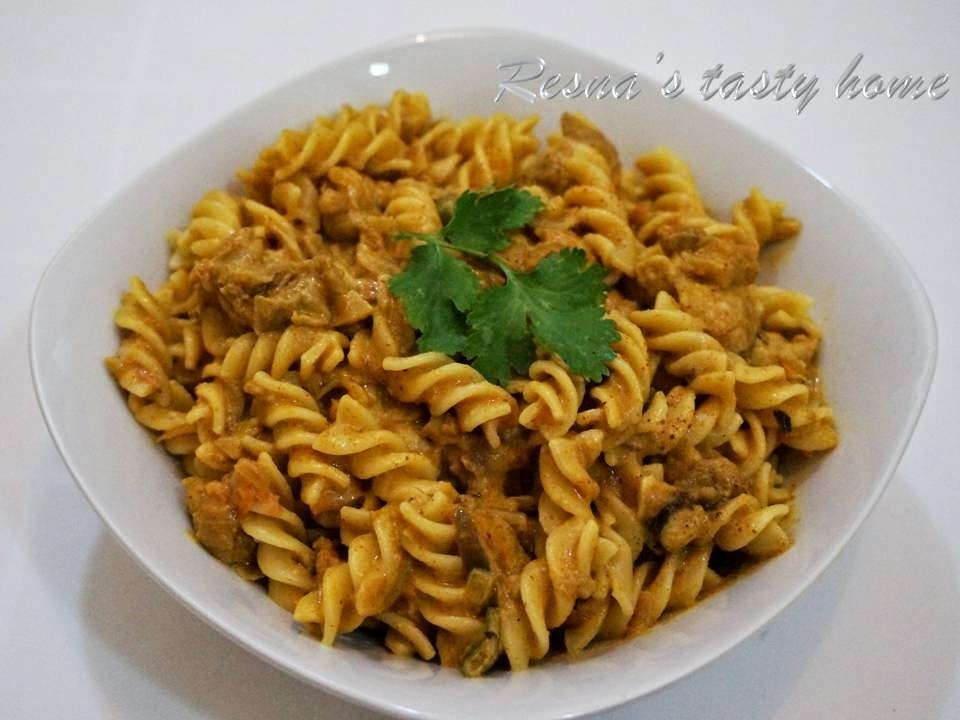 Chicken pasta Indian style 2