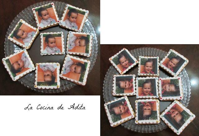 Galletas con fotos,  en papel de azúcar