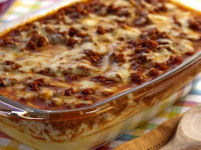 Polenta ao Forno com Carne Moída
