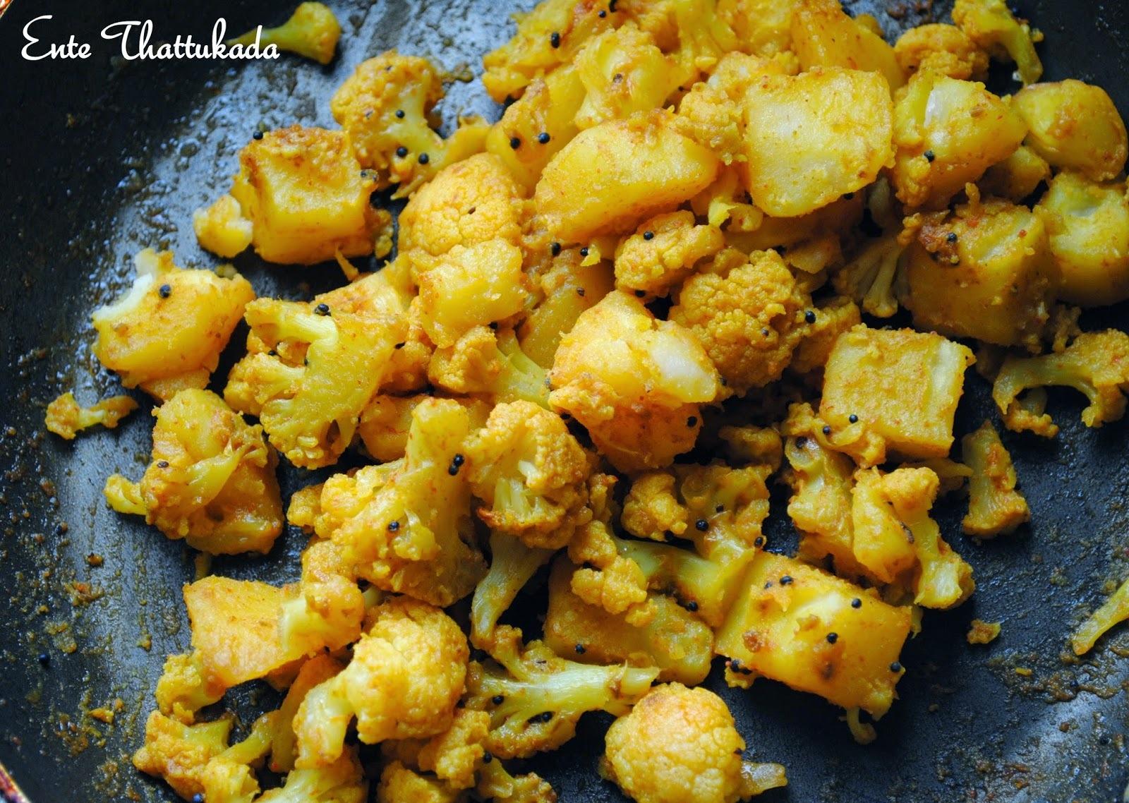 Potato Cauliflower Stir Fry