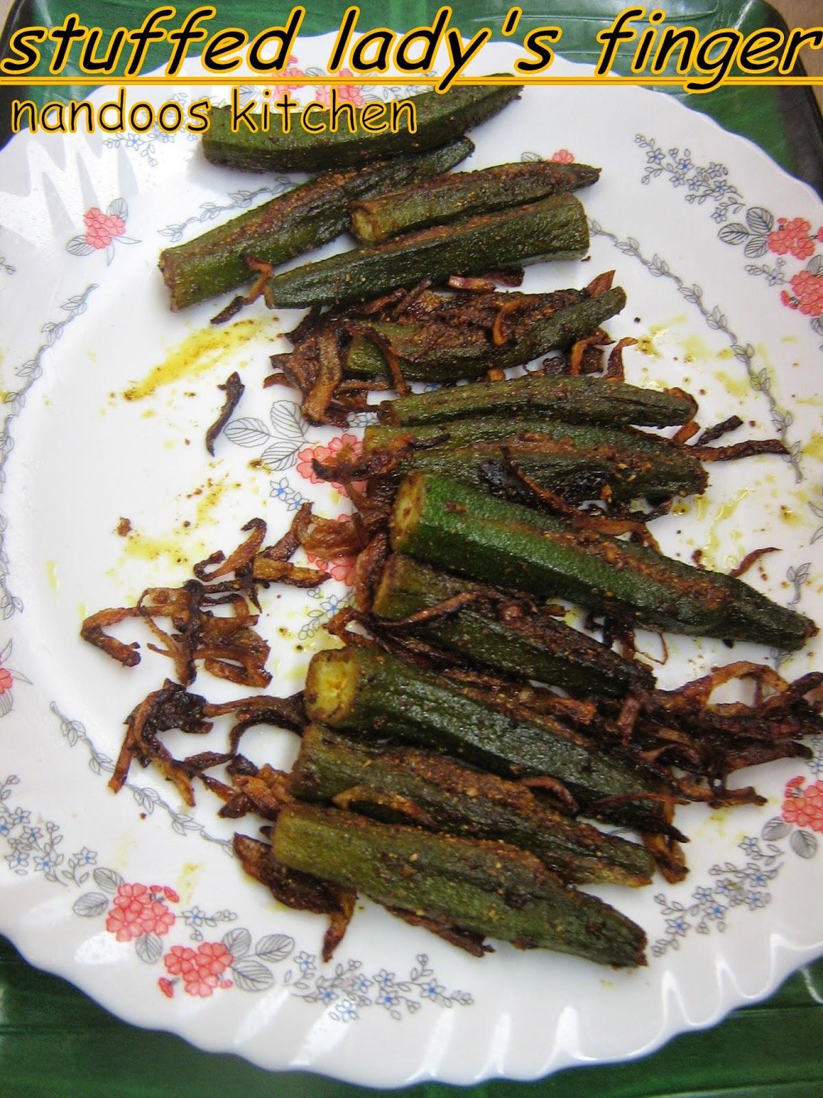 stuffed lady's finger / bharwan bhindi / vendakka masala nirachathu