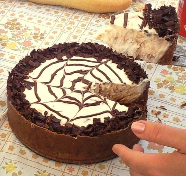 torta de chocolate con queso