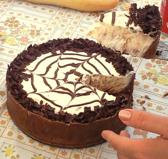 torta de chocolate con queso