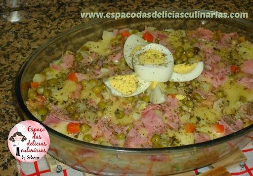 arroz de forno simples com presunto