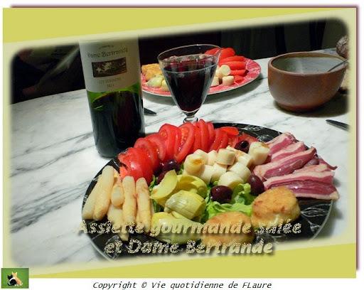 Assiette gourmande salée et Dame Bertrande