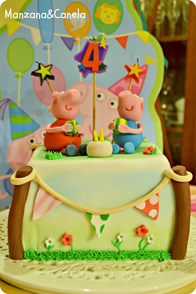 Tarta de Peppa Pig para el cumpleaños de Sara