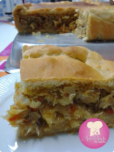 empanada com fermento de pão