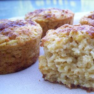 Muffins de flocons d'avoine aux pommes (4 PP)