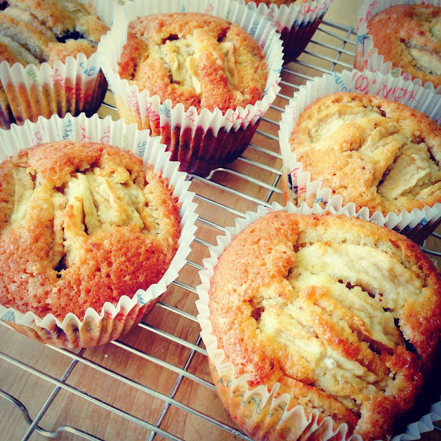 Muffins de Manzana y Arándanos