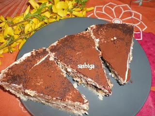 திராமிசு /Eggless Tiramisu With Sponge Cake ( Italian Dessert)