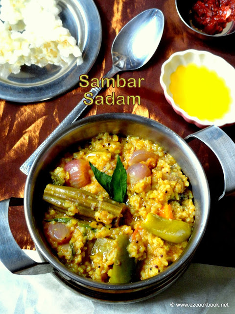 how to prepare sambar sadam in tamil