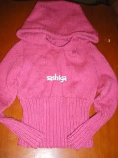 3-4 வயது சிறுமிகளுக்கான ஸ்வெட்டர்/ Sweater With Cap for Girls (3-4 years old)