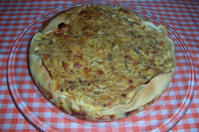QUICHE DE BACON Y CHAMPIÑONES