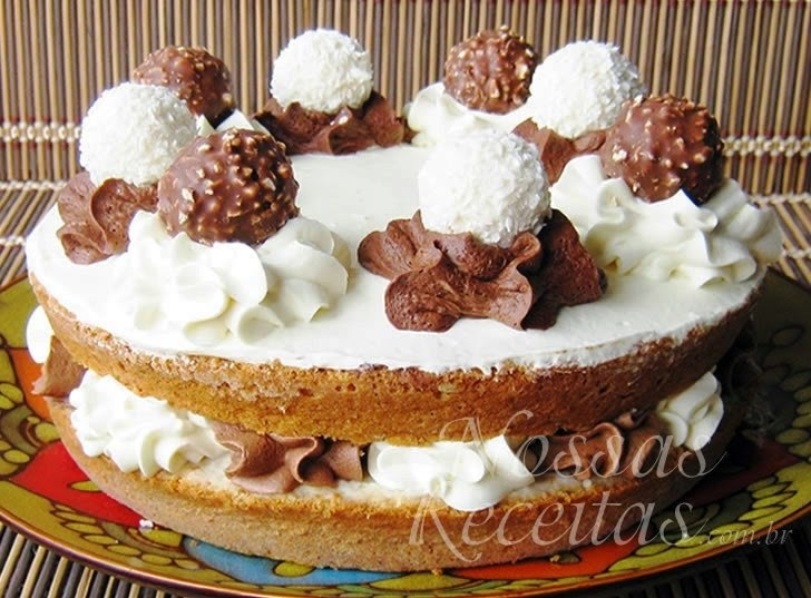 Torta de coco com Nutella