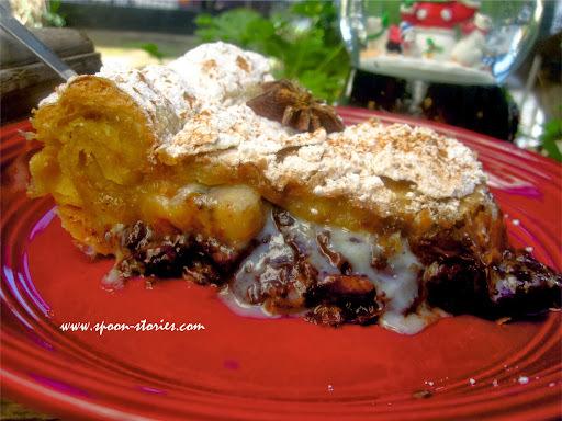 μπανανόπιτα με σφολιάτα & κομμάτια σοκολάτας