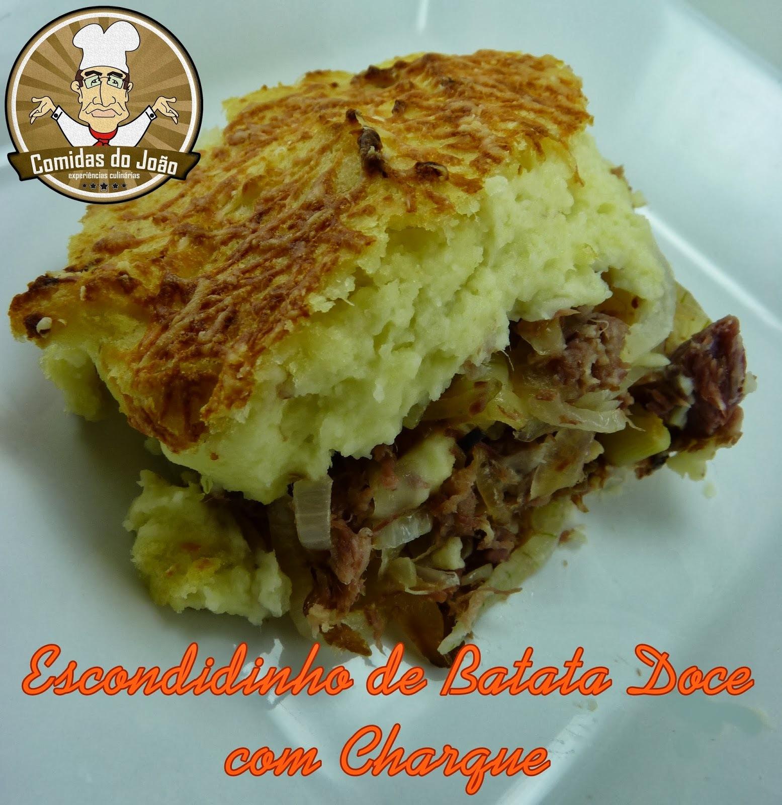 ESCONDIDINHO DE BATATA DOCE COM CHARQUE + BONUS