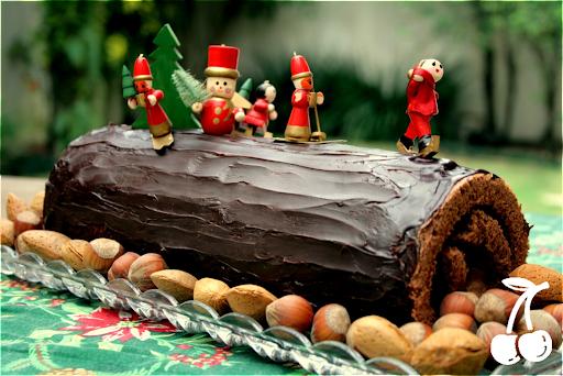 DESAFIO: Um Bouche de Noel de Chocolate para desejar Feliz Natal a todos!!!!