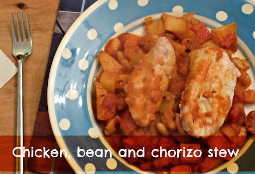 Recipe: Chicken, bean and chorizo stew