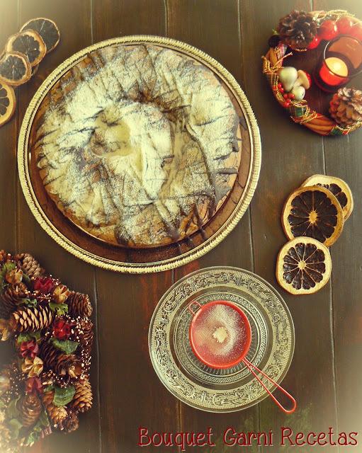Receta de Navidad. Espiral con frutas