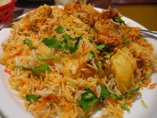 biryani with basmati rice