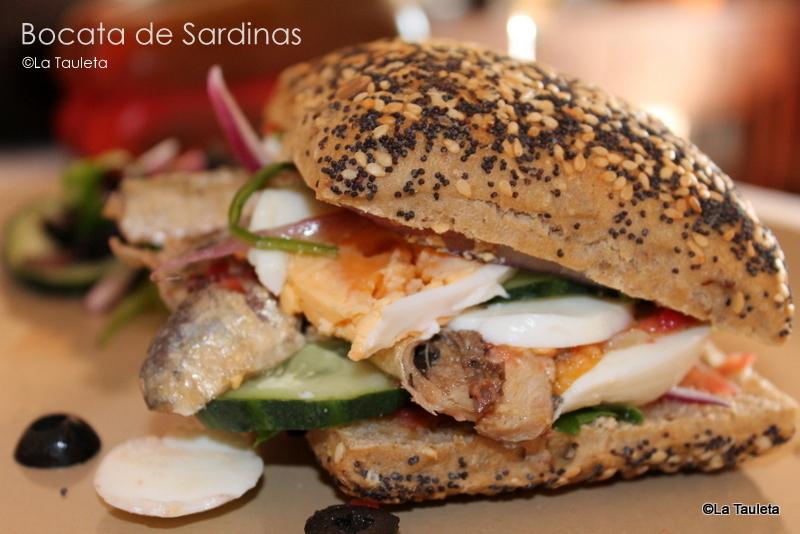 El Bocadillo de Sardinas con mas Glamour by La Tauleta