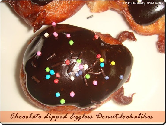 Chocolate Coated Eggless Donuts-lookalikes for Mother's Day