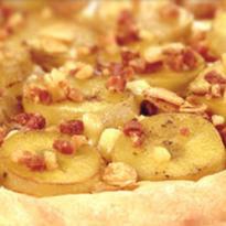 batata enrolada com bacon e queijo
