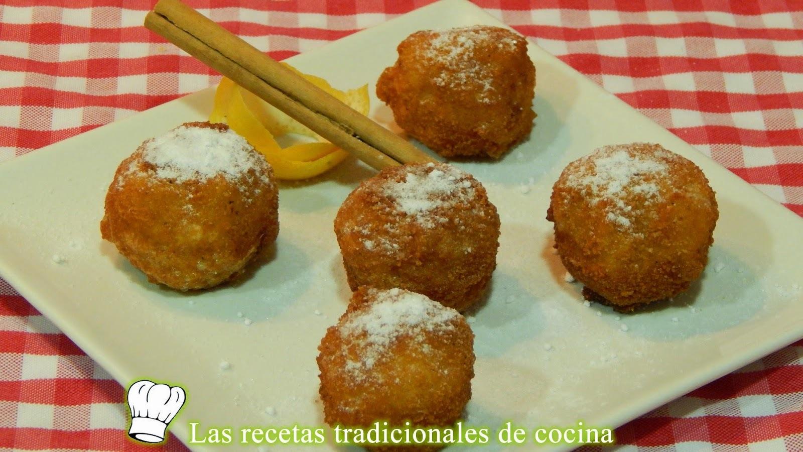 Receta de buñuelos de arroz con leche