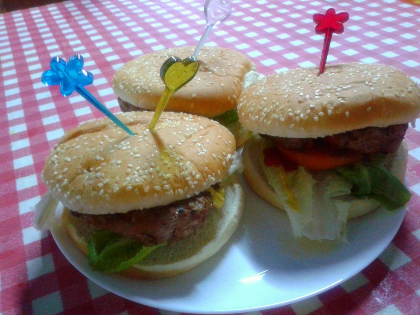 hamburguesas caseras sin huevo