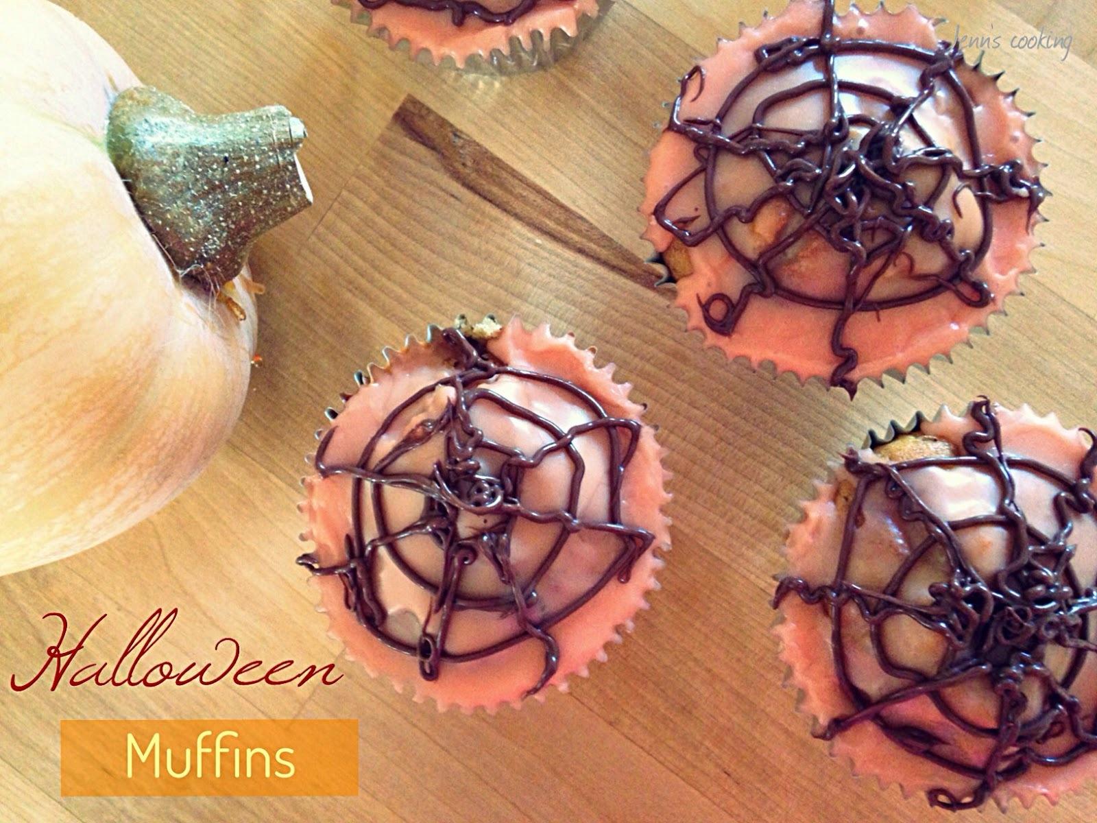 Cupcakes d'Halloween aux Pommes et Caramel Beurre Salé