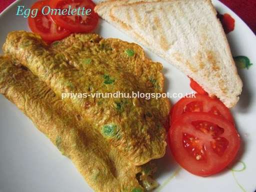 quick and healthy bread omelette