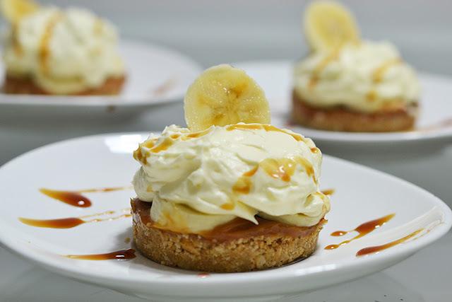 Mini torta Banoffee: Banana com doce de leite