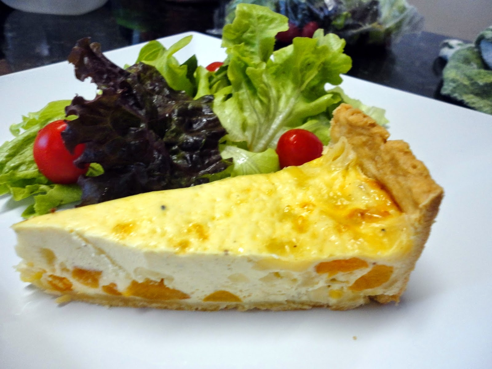 quiche de queijo brie com damasco