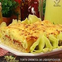 torta de bacalhau de liquidificador cremosa