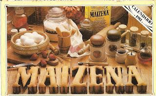 Receitas do Calendário Maizena 1981