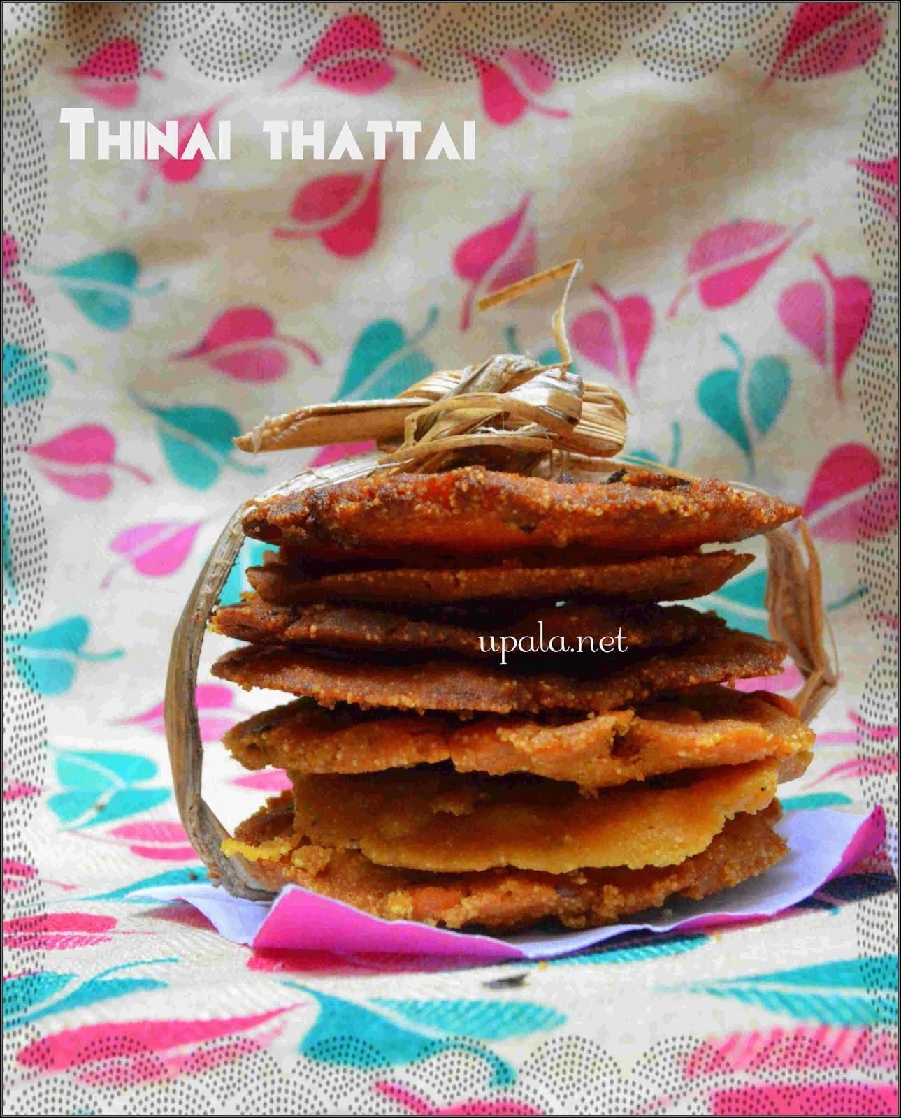 Thinai Thattai/Foxtail millet thattai