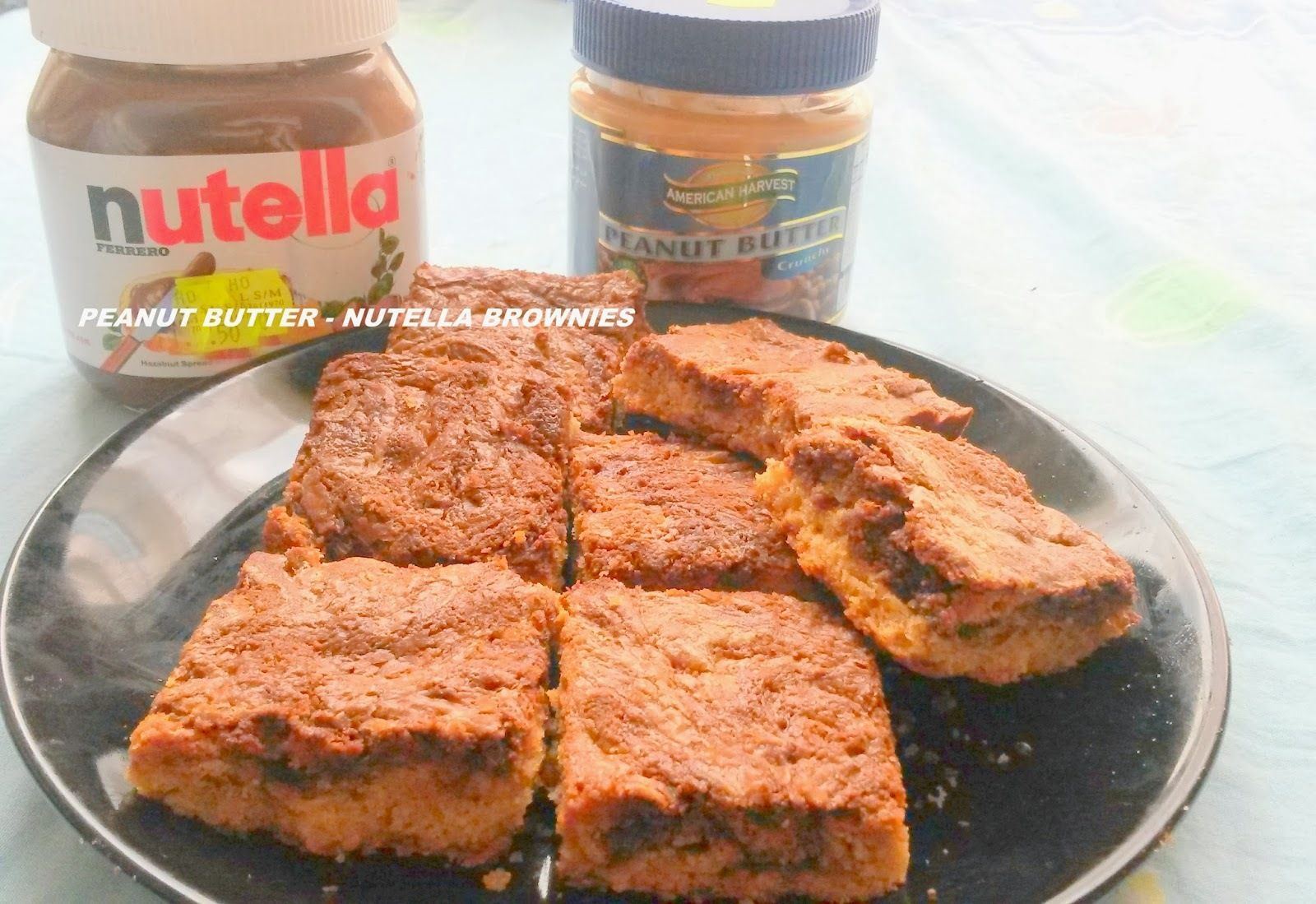 Be My Guest - Peanut Butter Nutella Brownies